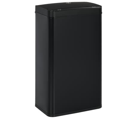 vidaXL Coș de gunoi cu senzor automat, negru, 70 L, oțel[3/11]