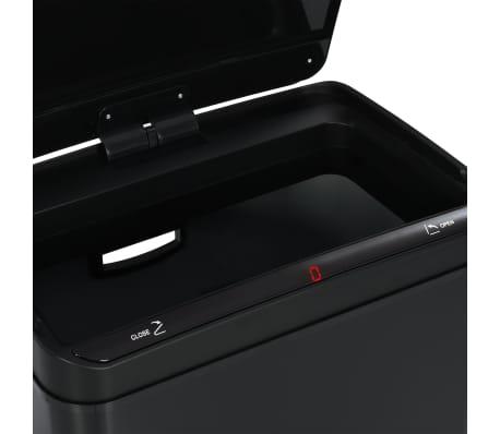 vidaXL Coș de gunoi cu senzor automat, negru, 70 L, oțel[11/11]