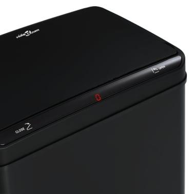 vidaXL Coș de gunoi cu senzor automat, negru, 70 L, oțel[9/11]
