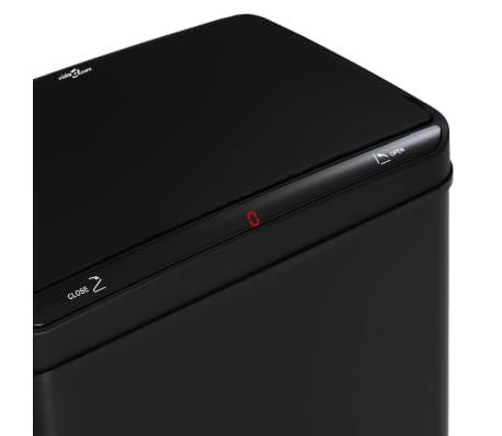 vidaXL Coș de gunoi cu senzor automat, negru, 80 L, oțel[9/11]