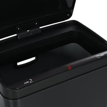 vidaXL Coș de gunoi cu senzor automat, negru, 80 L, oțel[11/11]