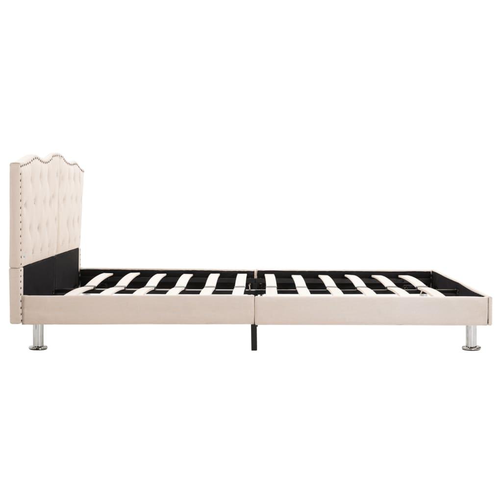 vidaXL Bedframe stof beige 140x200 cm
