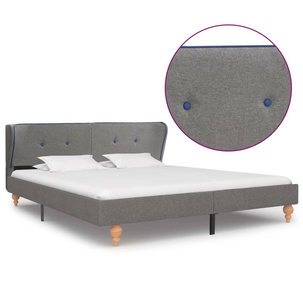 vidaXL Cadru de pat, gri deschis, 180 x 200 cm, material textil vidaxl.ro