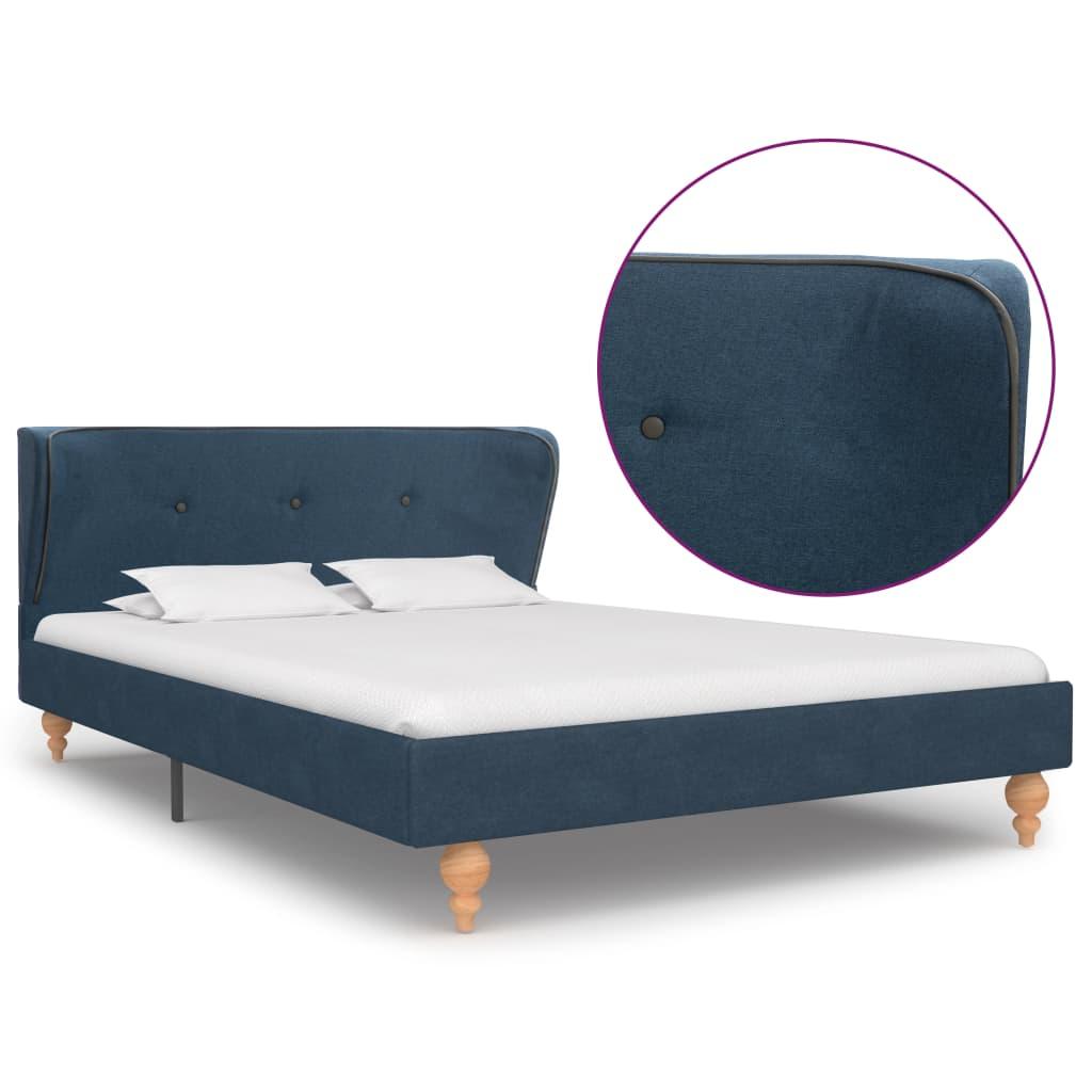 vidaXL Πλαίσιο Κρεβατιού Μπλε 120 x 200 εκ. Υφασμάτινο