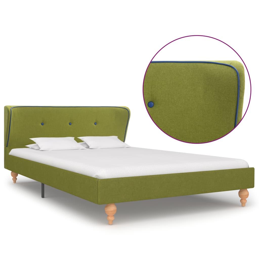 vidaXL Πλαίσιο Κρεβατιού Πράσινο 120 x 200 εκ. Υφασμάτινο