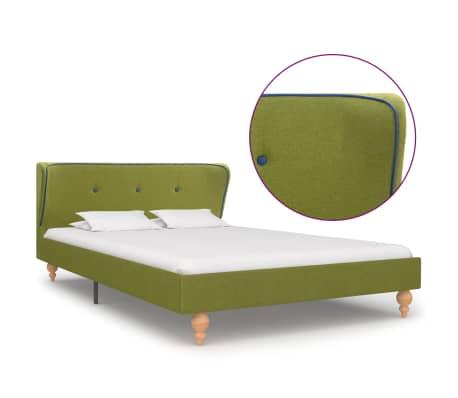 vidaXL Cadru de pat, verde, 120 x 200 cm, material textil