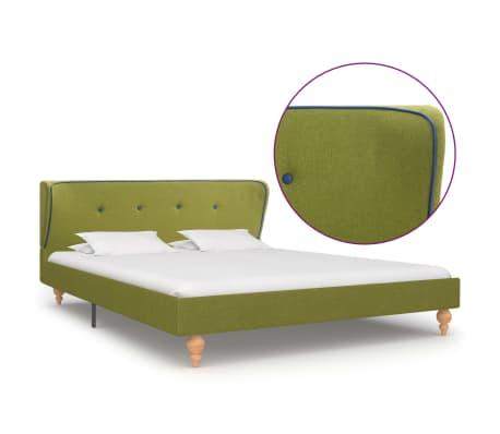 vidaXL Cadre de lit Vert Tissu 140 x 200 cm