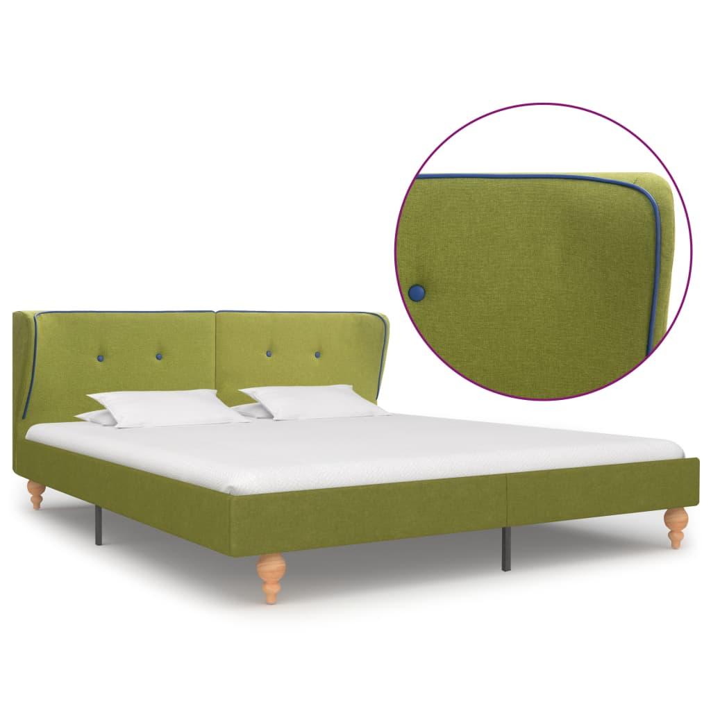 vidaXL Πλαίσιο Κρεβατιού Πράσινο 160 x 200 εκ. Υφασμάτινο