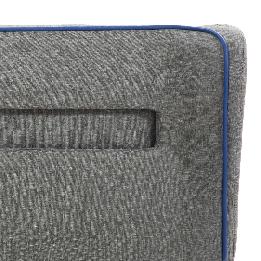 vidaXL Bedframe met LED stof lichtgrijs 120x200 cm