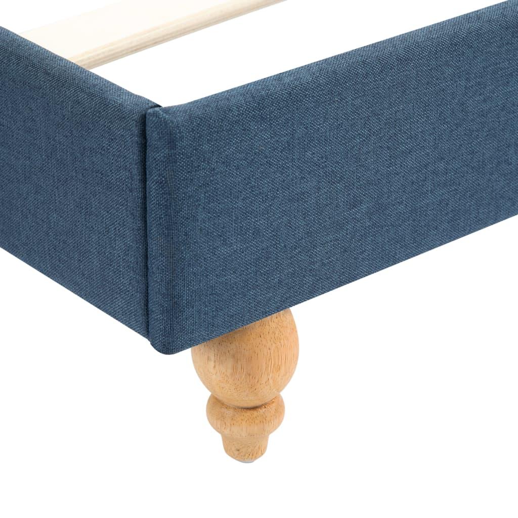 vidaXL Bedframe met LED stof blauw 160x200 cm