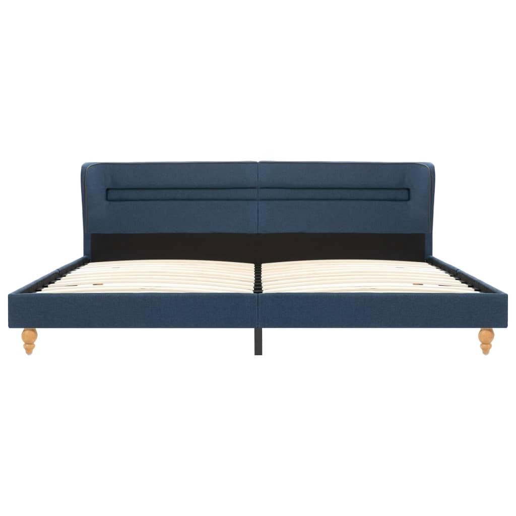 vidaXL Bedframe met LED stof blauw 180x200 cm