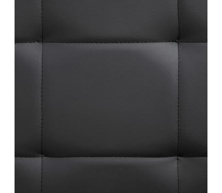 vidaXL Cadre de lit Noir Similicuir 200 x 160 cm[8/9]