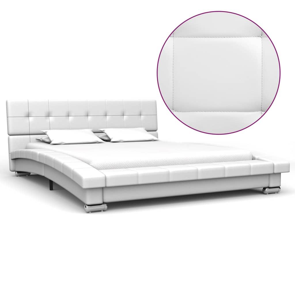 vidaXL sengestel 200 x 120 cm kunstlæder hvid