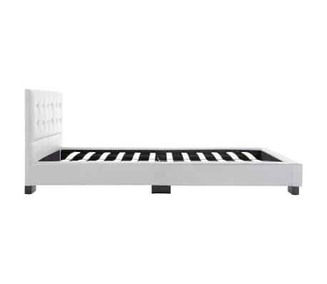 vidaXL Cadre de lit Blanc Similicuir 120 x 200 cm[6/7]