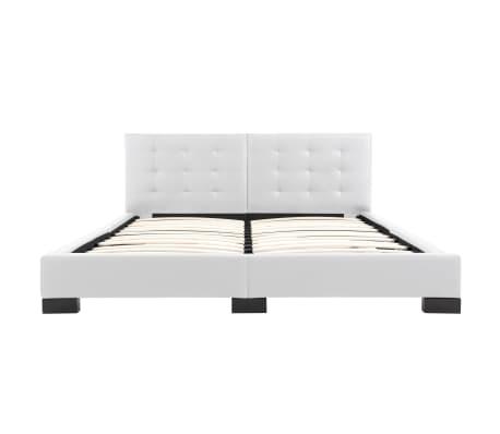 vidaXL Cadre de lit Blanc Similicuir 160x200 cm[4/5]