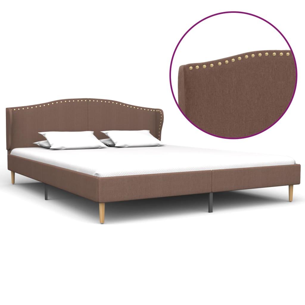 vidaXL Cadru de pat, maro, 180 x 200 cm, material textil poza vidaxl.ro