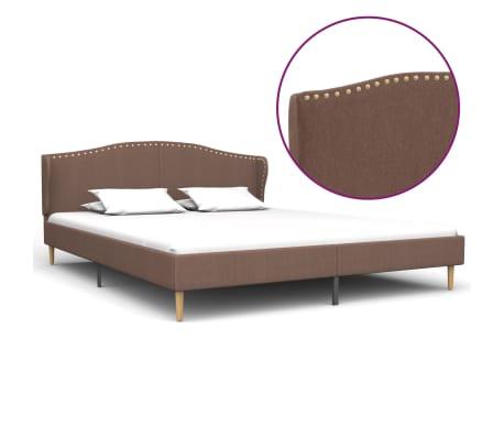 vidaXL Cadru de pat, maro, 180 x 200 cm, material textil