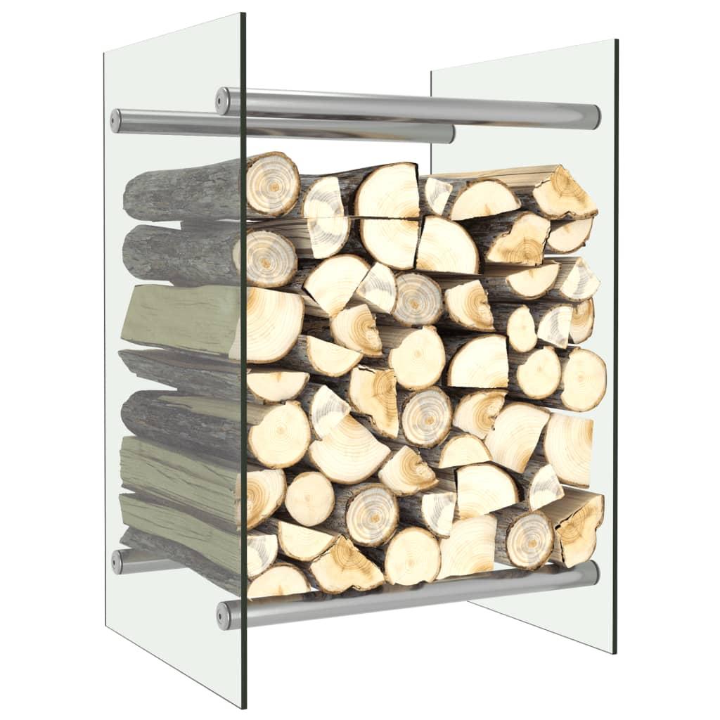 vidaXL Rastel lemne de foc, transparent, 40 x 35 x 60 cm, sticlă imagine vidaxl.ro