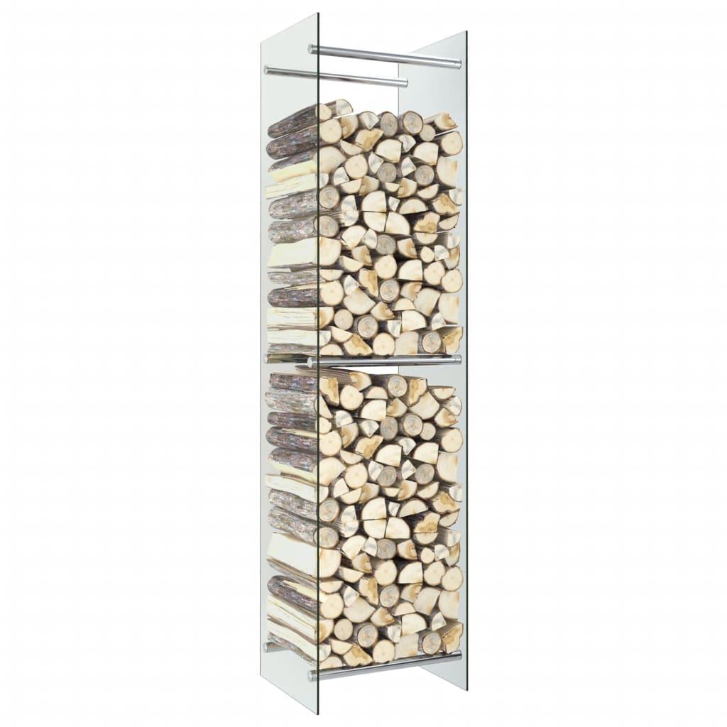 vidaXL Rastel lemne de foc, transparent, 40 x 35 x 160 cm, sticlă poza 2021 vidaXL