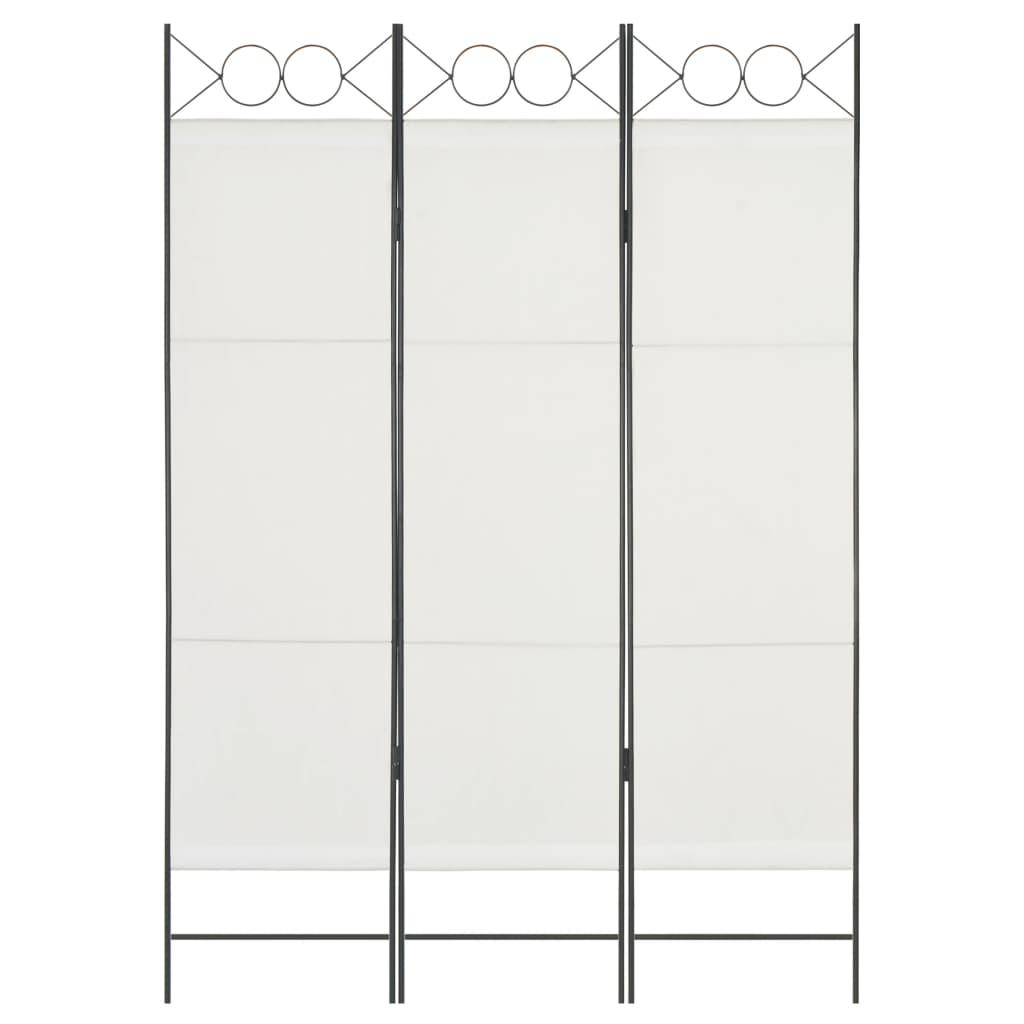 3dílný paraván bílý 120 x 180 cm