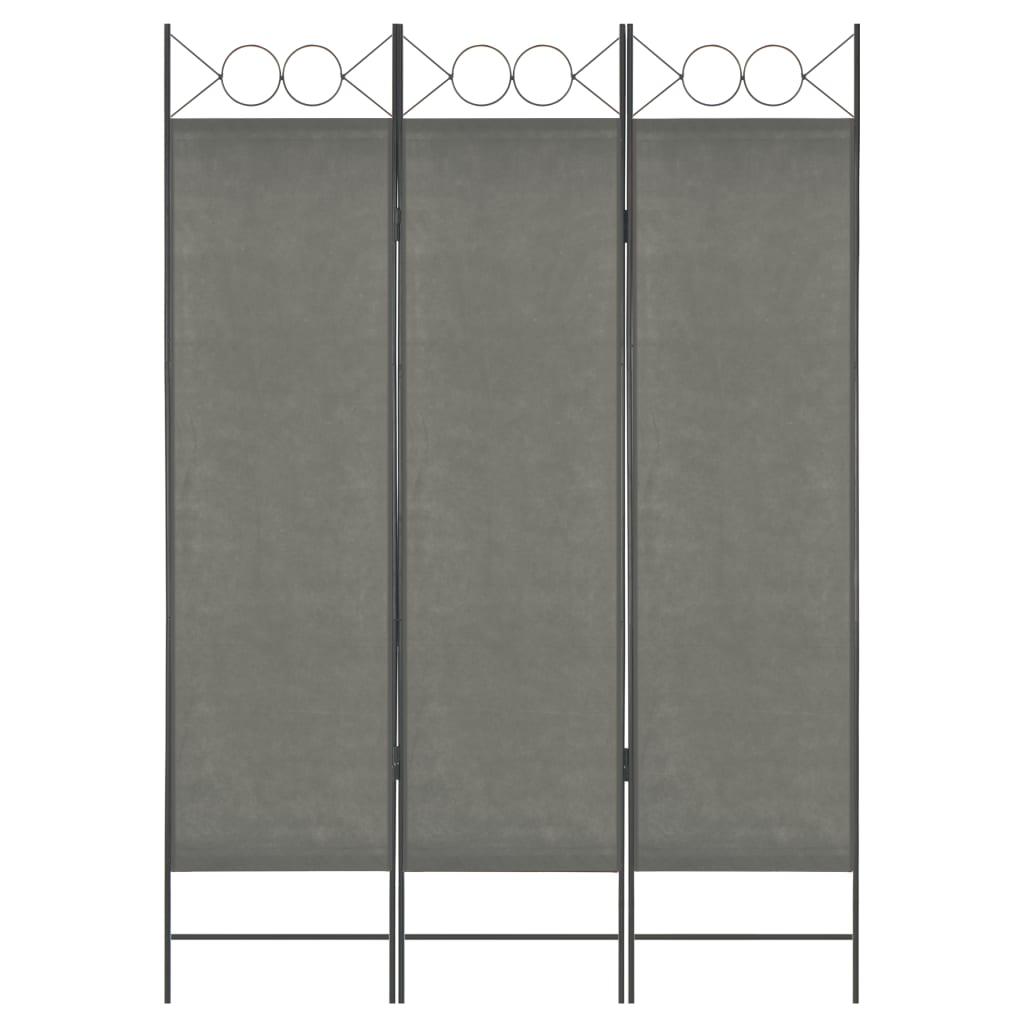 3dílný paraván antracitový 120 x 180 cm