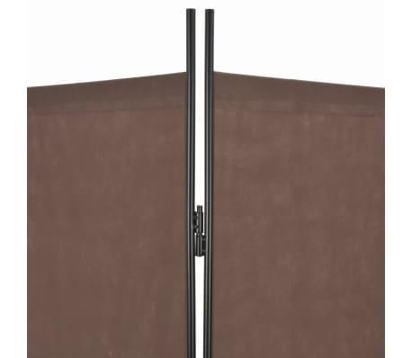 vidaXL Kambario pertvara, 4 d., rudos sp., 200x180 cm[5/6]