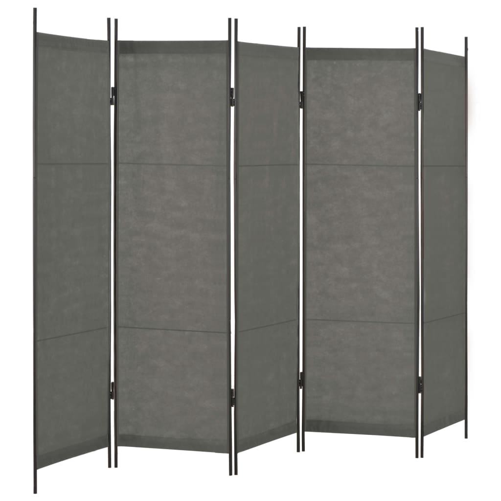 vidaXL Paravan de cameră cu 5 panouri, antracit, 250 x 180 cm vidaxl.ro