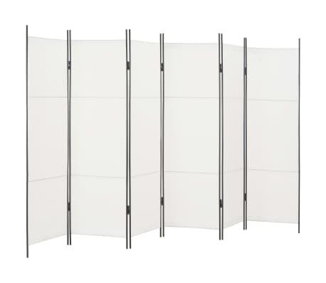 vidaXL Rumsavdelare 6 paneler vit 300x180 cm