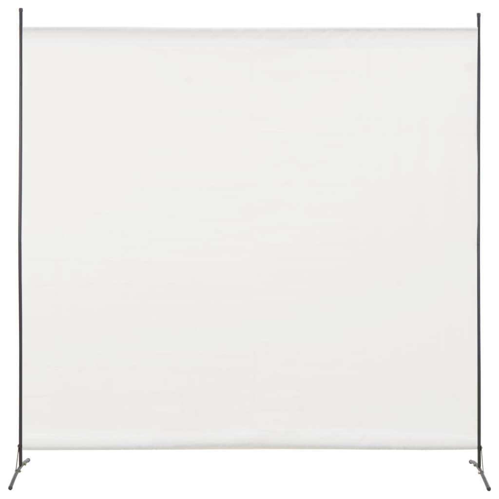 vidaXL Paravan de cameră cu 1 panou, alb, 175 x 180 cm imagine vidaxl.ro