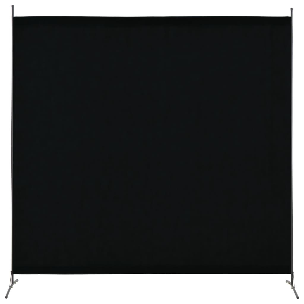 vidaXL Paravan de cameră cu 1 panou, negru, 175 x 180 cm poza 2021 vidaXL