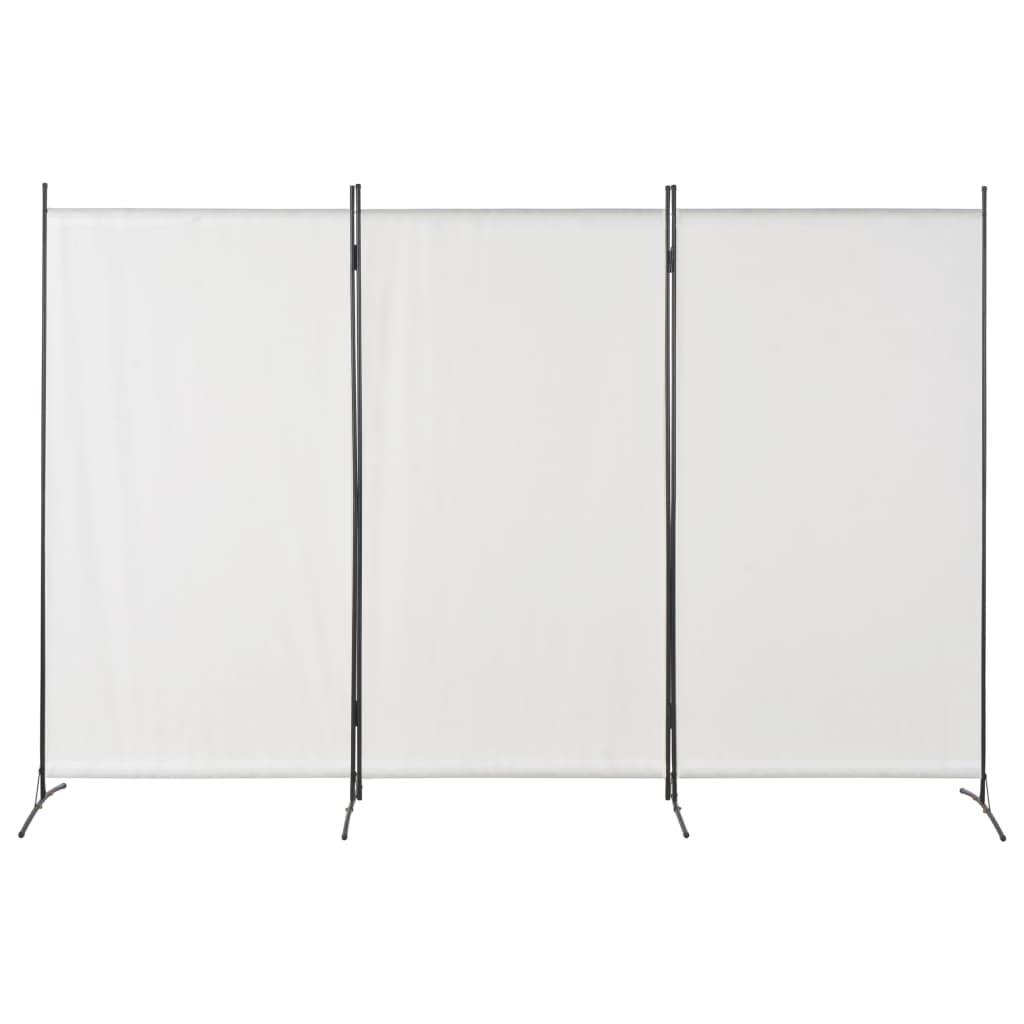 vidaXL Paravan de cameră cu 3 panouri, alb, 260 x 180 cm vidaxl.ro