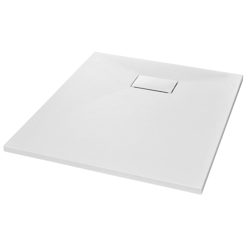 vidaXL Βάση Ντουζιέρας Λευκή 90 x 70 εκ. από SMC