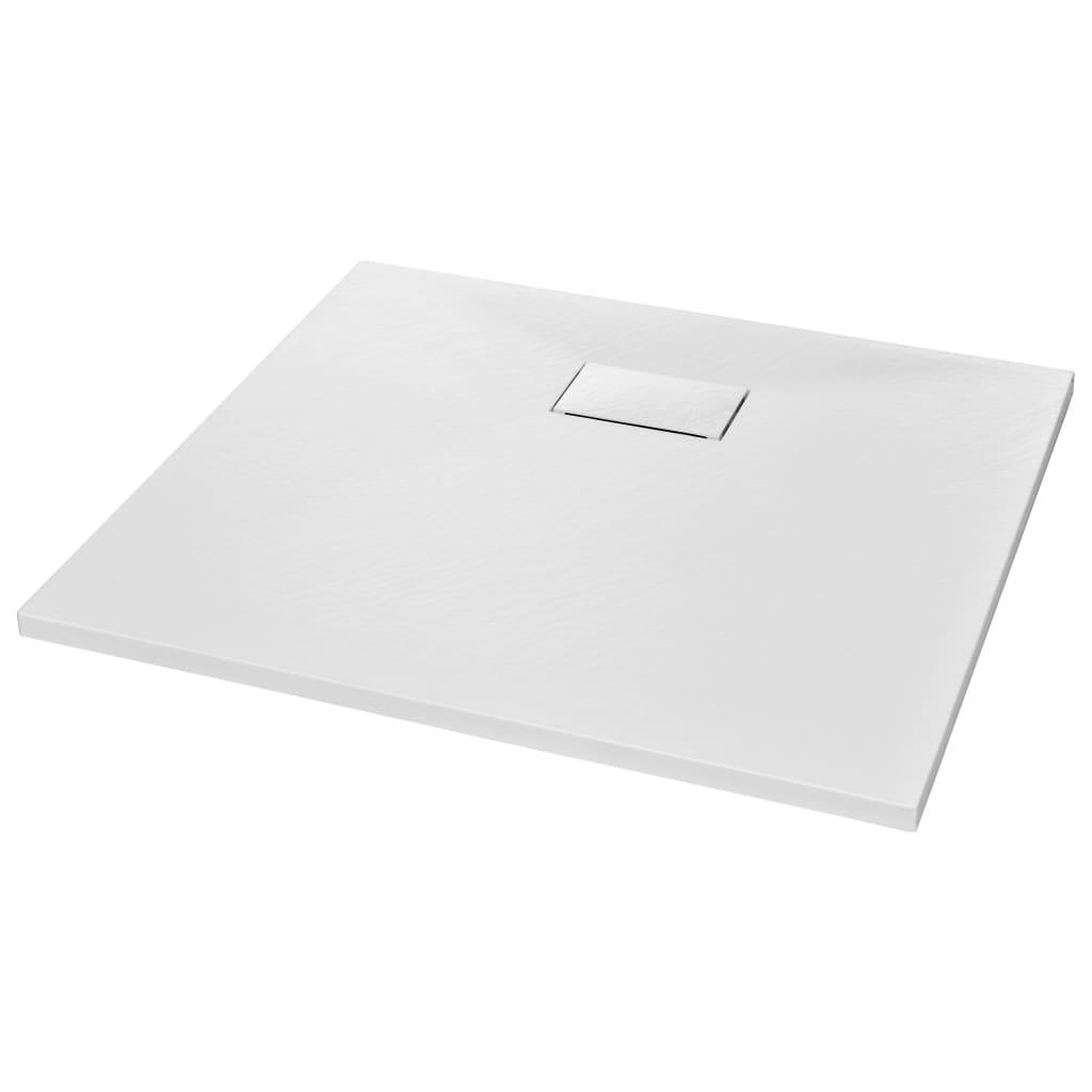 vidaXL Βάση Ντουζιέρας Λευκή 90 x 80 εκ. από SMC
