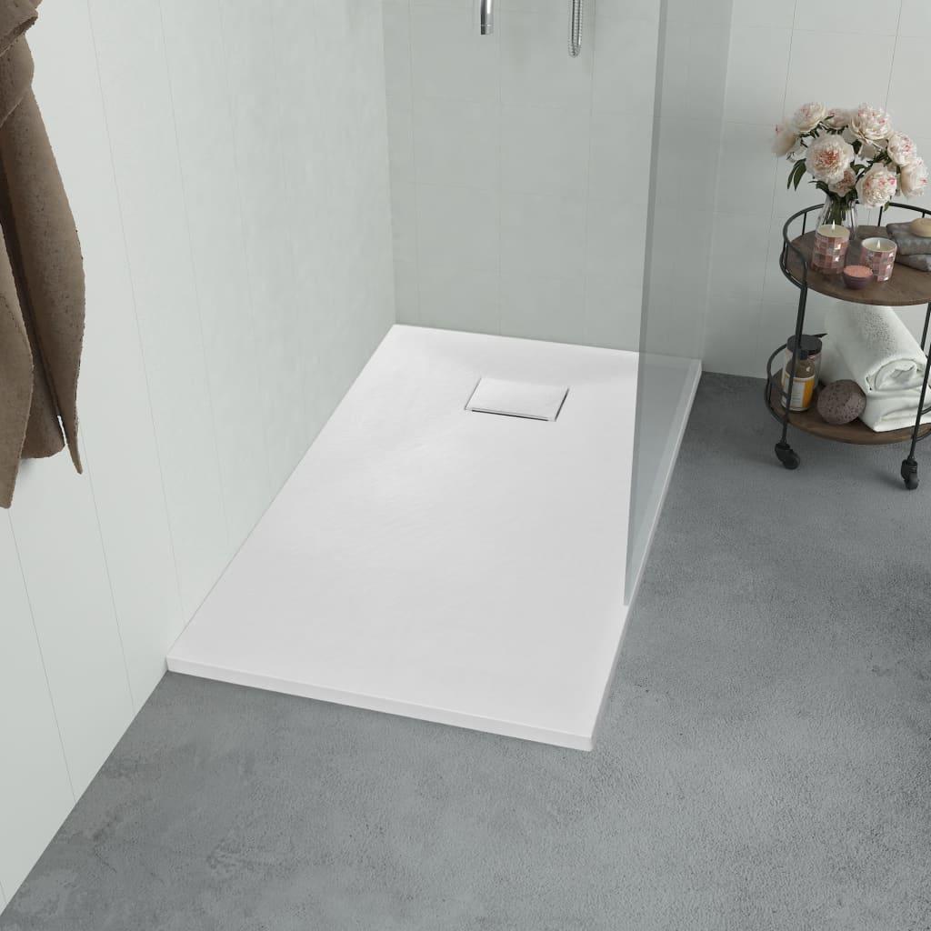 vidaXL Cădiță de duș, alb, 90 x 80 cm, SMC poza 2021 vidaXL