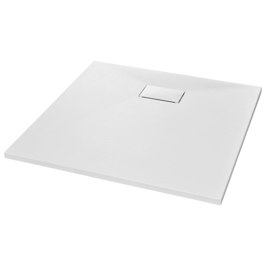 vidaXL Βάση Ντουζιέρας Λευκή 90 x 90 εκ. από SMC