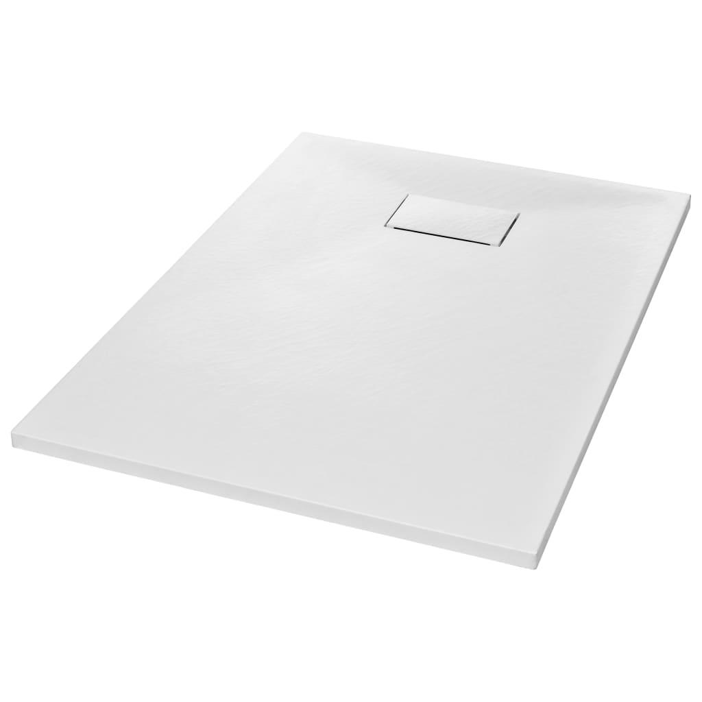 vidaXL Βάση Ντουζιέρας Λευκή 100 x 70 εκ. από SMC