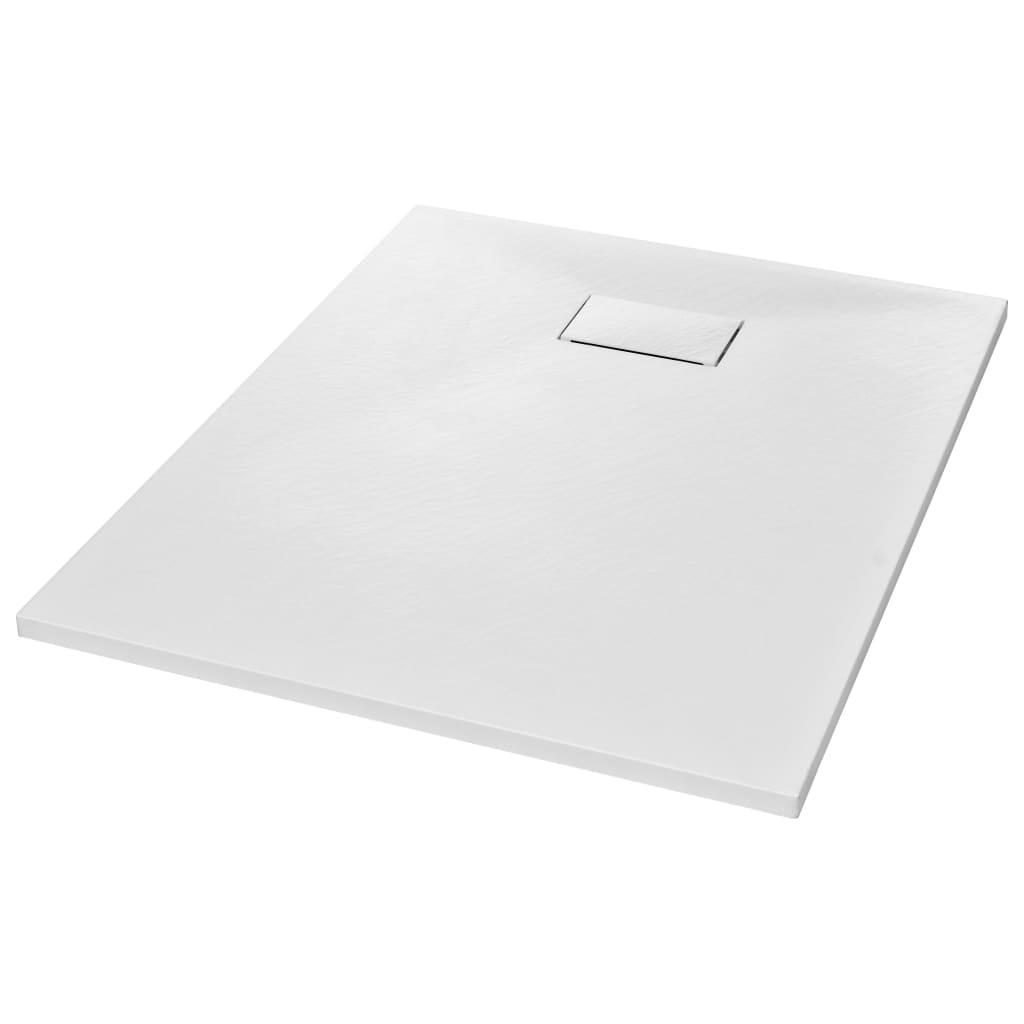 vidaXL Βάση Ντουζιέρας Λευκή 100 x 80 εκ. από SMC
