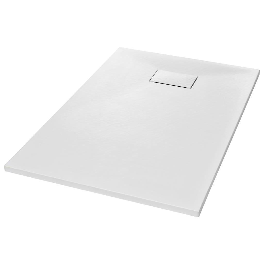vidaXL Βάση Ντουζιέρας Λευκή 120 x 70 εκ. από SMC
