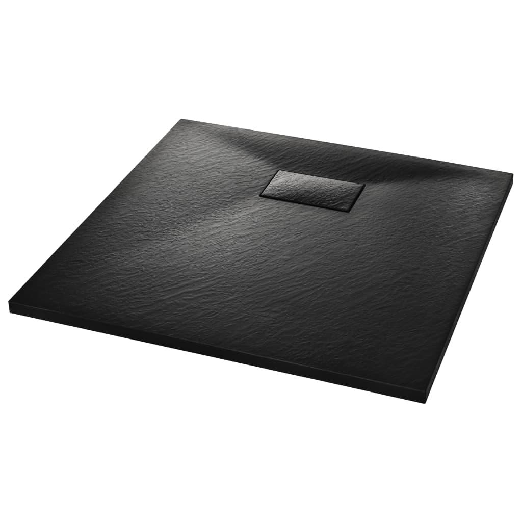 vidaXL Βάση Ντουζιέρας Μαύρη 80 x 80 εκ. από SMC