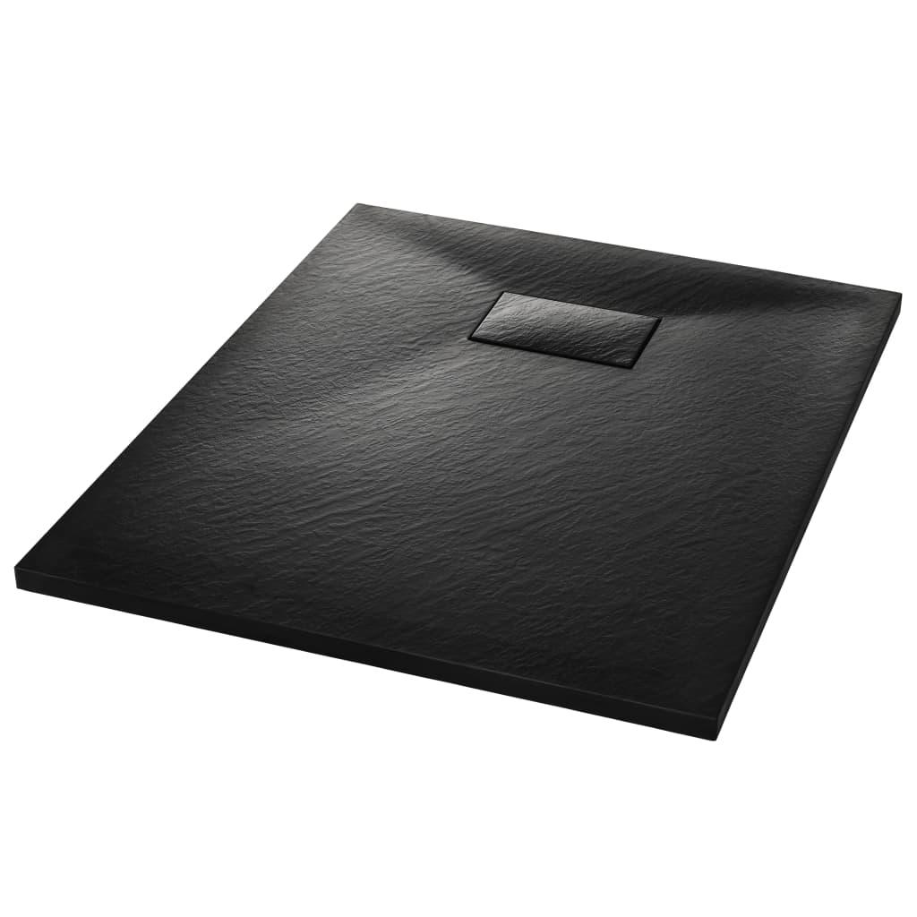 vidaXL Βάση Ντουζιέρας Μαύρη 90 x 70 εκ. από SMC