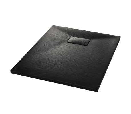 vidaXL Shower Base Tray SMC Black 90x70 cm