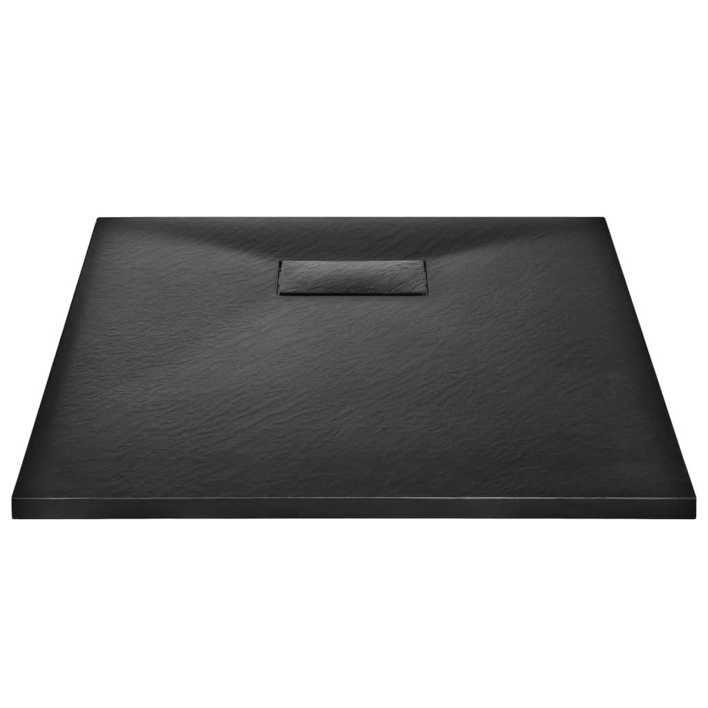 vidaXL Douchebak 90x70 cm SMC zwart