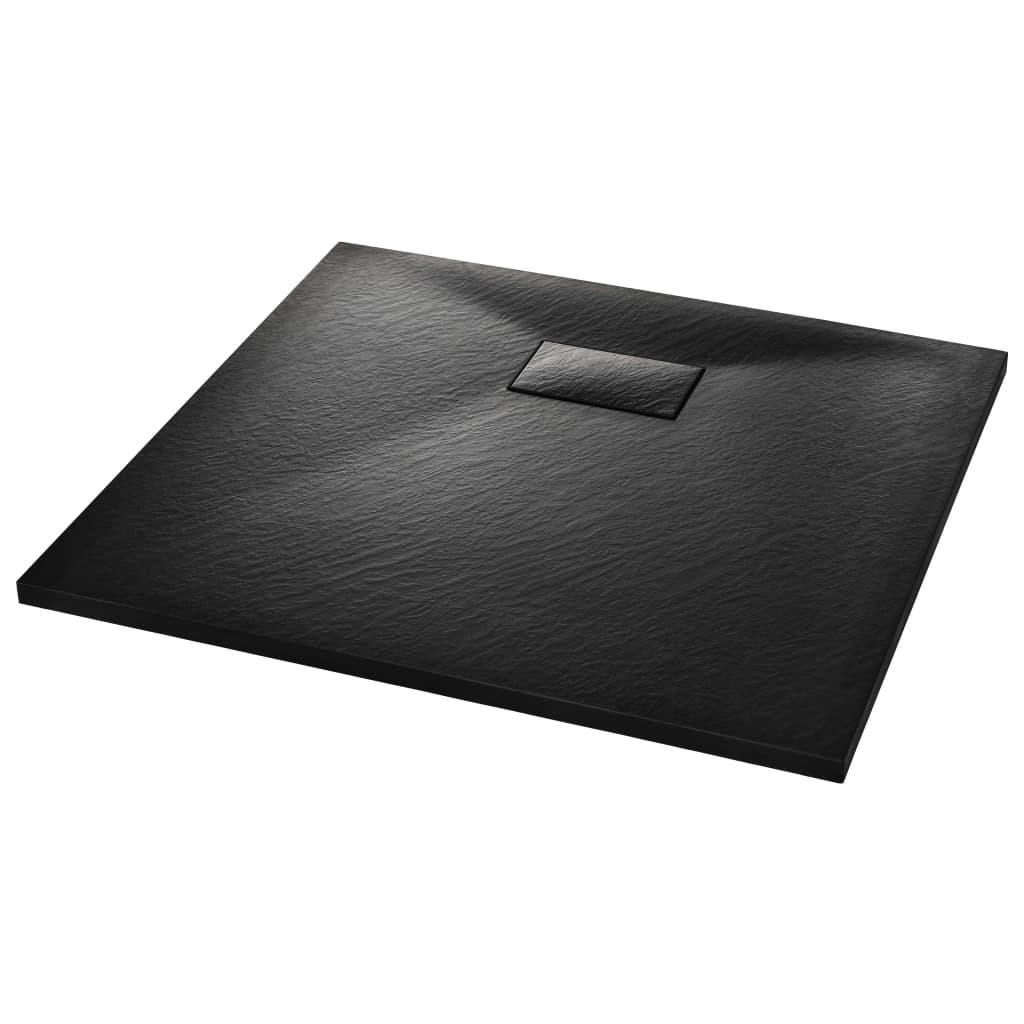 vidaXL Βάση Ντουζιέρας Μαύρη 90 x 80 εκ. από SMC