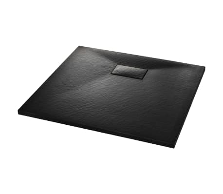 vidaXL Shower Base Tray SMC Black 90x80 cm