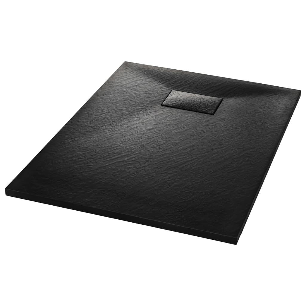 vidaXL Βάση Ντουζιέρας Μαύρη 100 x 70 εκ. από SMC
