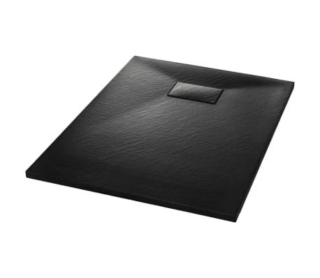 vidaXL Base de chuveiro SMC 100x70 cm preto