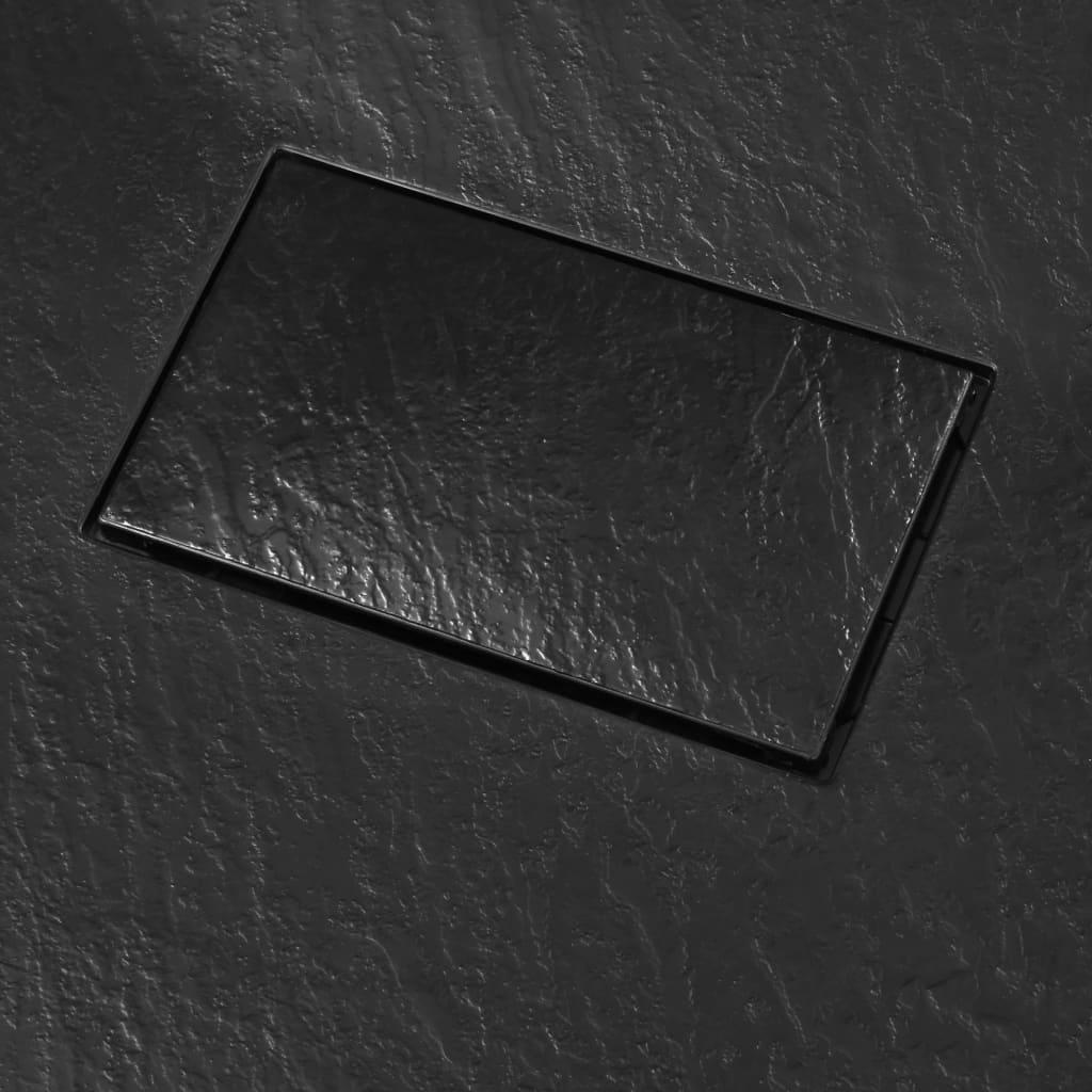 vidaXL Douchebak 100x80 cm SMC zwart