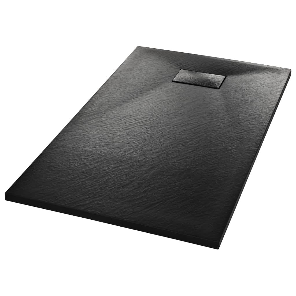 vidaXL Βάση Ντουζιέρας Μαύρη 120 x 70 εκ. από SMC