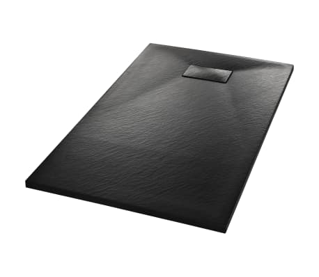 vidaXL Shower Base Tray SMC Black 120x70 cm