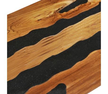 vidaXL Kavos staliukas, 100x50x40 cm, tikmedžio mediena ir lavos akmuo[8/14]
